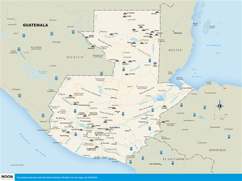 where is guatemala on the map maps of guatemala free printable travel maps from moon