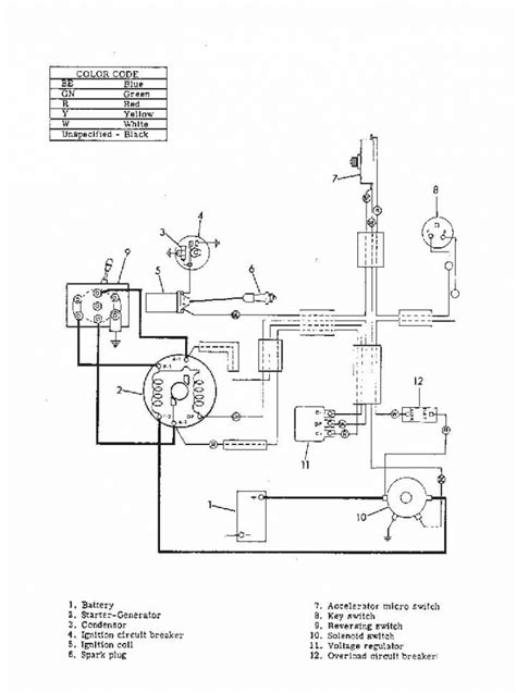 ezgo ignition switch wiring diagram ezgo txt key switch