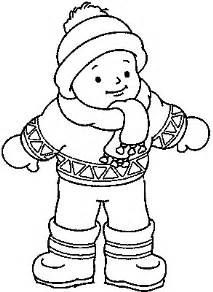 coloring page winter clothes images