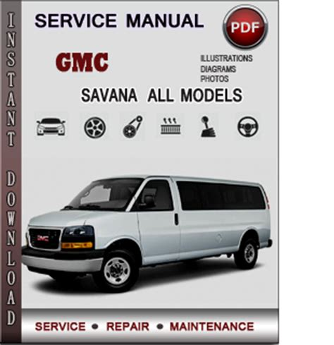 gmc savana service repair manual download info service manuals