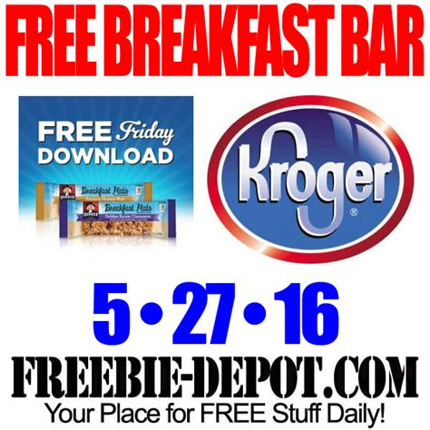 Kroger Family Of Stores Gift Cards - free quaker breakfast flats kroger freebie friday download free digital coupon
