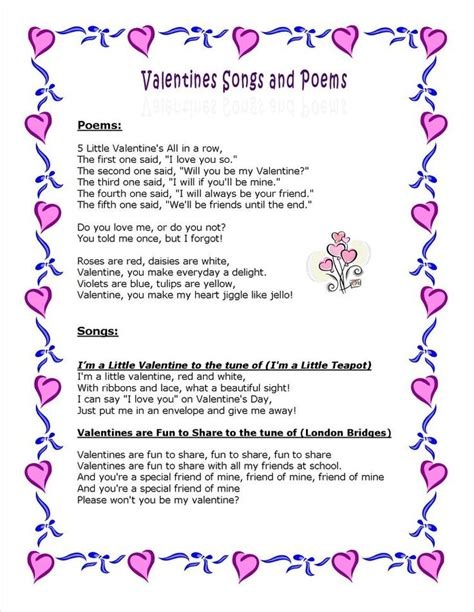 valentines day poems for kindergarten 1000 ideas about valentines day songs on