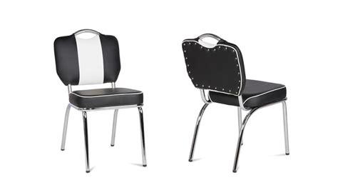 diner stuhl stuhl elvis schwarz mit chrom gestell im 50er diner retro stil