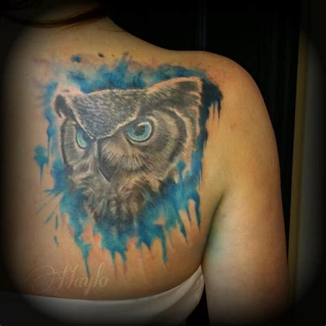 owl face tattoo owl