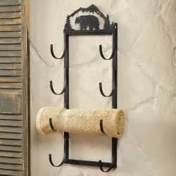 wall towel holders wall door mount towel rack rustic country decore
