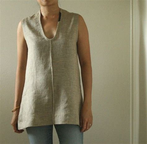 Handmade Clothing Australia - linen tunic tank top s linen clothing