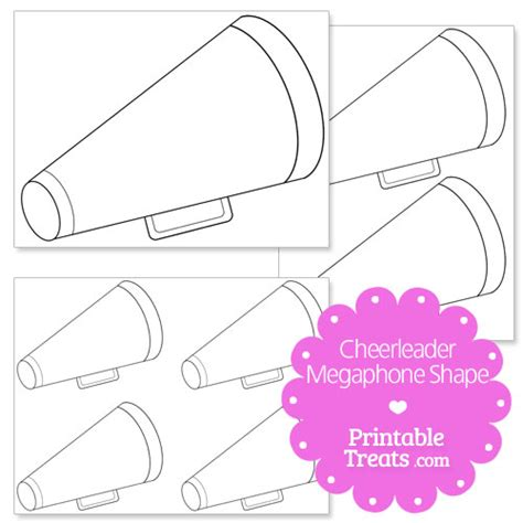 Printable Cheerleader Megaphone Shape Printable Treats Com Cheer Bag Tag Template