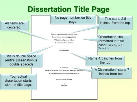 how many pages is a dissertation dissertations using apa style m u m guidelines ppt