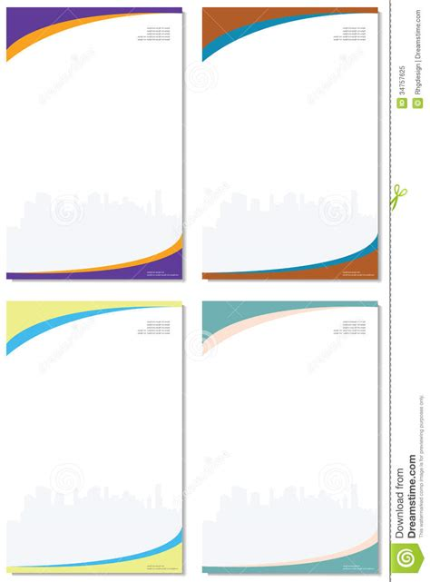 paper company stock vector image of brochure