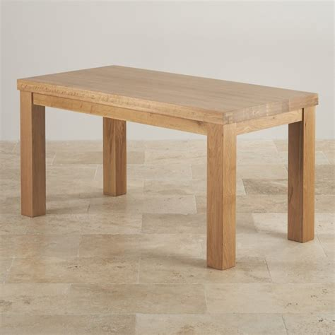 contemporary chunky 5ft dining table in solid oak
