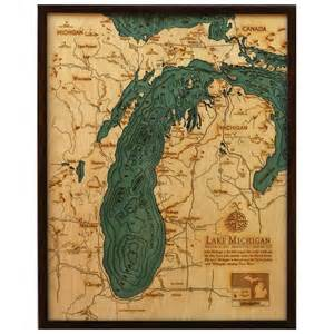Michigan Topographic Map by Lake Michigan Topographical Map For The Walls Pinterest