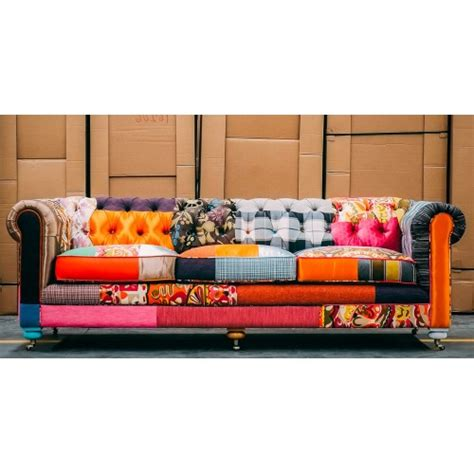 colorful sofa colorful patchwork chesterfield sofa