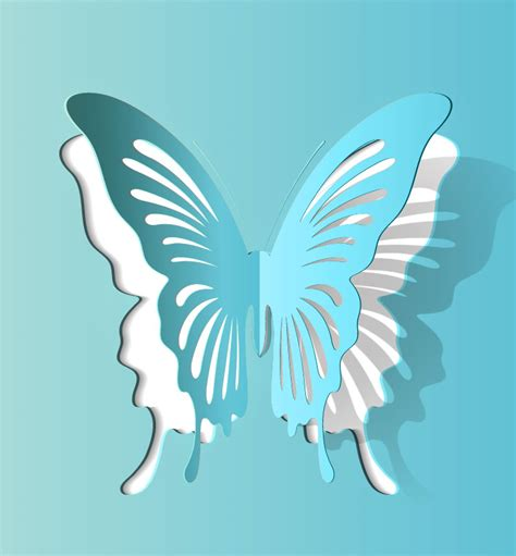 3d Paper Cutting Templates by Best Photos Of 3d Butterfly Cut Out Template 3d Paper