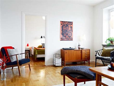 vintage appartments combining vintage and modern in a small two room apartment