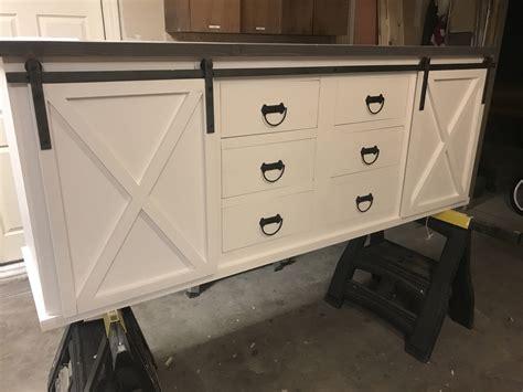 sliding door vanity large sliding barn door vanity with drawers
