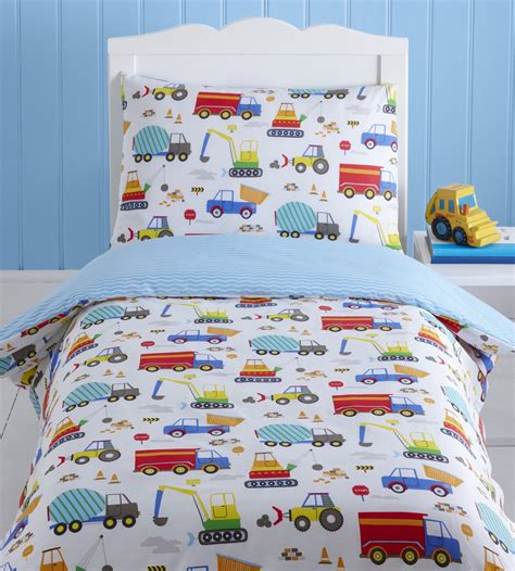 Baby Cot Duvet Cover Sets by Bright Trucks Baby Boy Toddler Junior Cot Bed Duvet
