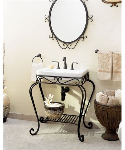 Bathroom Sinks Product Review Scrolling Along From St Wrought Iron Bathroom Furniture