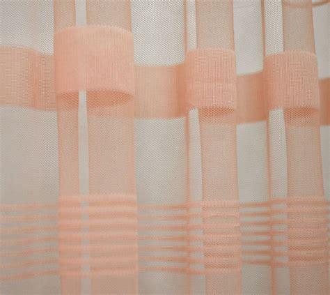 net curtain material uk q109 peach with stripe pattern soft mesh net fabric