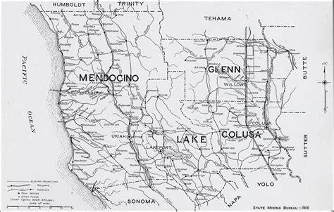 california map mendocino county mendocino county
