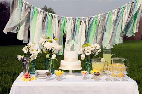 Handmade Wedding Crafts - handmade wedding ideas aqua white gray wedding garland