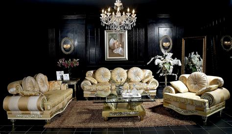 Living Room Luxury Furniture Ares Luxury Sofa 2 Seater Sofa Armchair Side Tables Coffee Tables