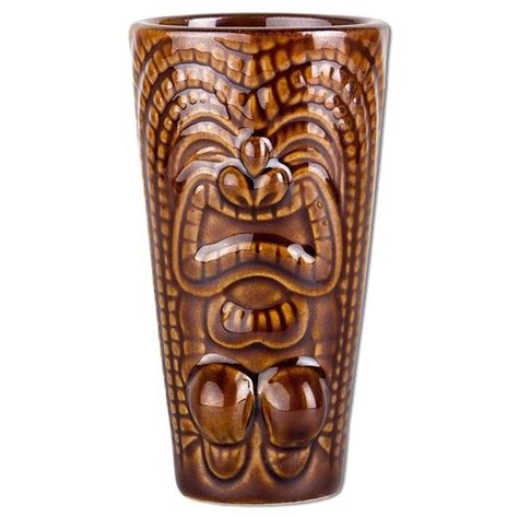 tiki barware ceramic tiki tall shot glass barware