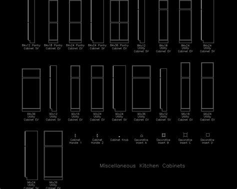 kitchen cabinet cad blocks autocad detail miscellaneous kitchen cabinets dwg