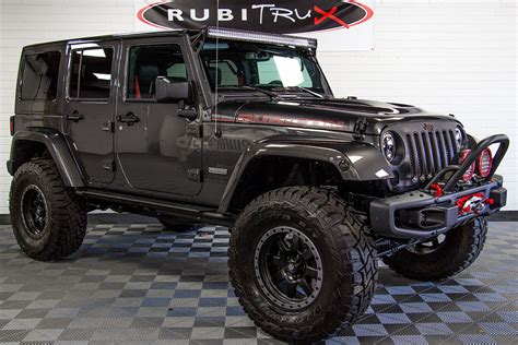 custom black jeep 2018 jeep wrangler rubicon recon unlimited granite