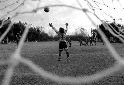 soccer boy goalkeeper black  white game playing