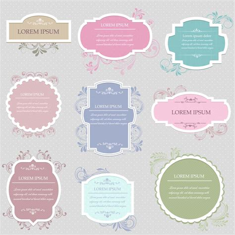 Decorative Wreaths For Home by Frames Free Vector Vintage Set Free Download