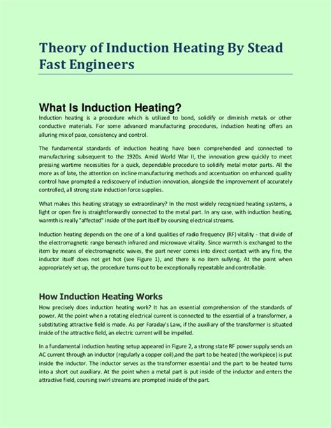 inductor theory theory of inductor 28 images theory of induction heating by stead fast engineers what is