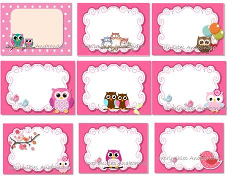 imagenes para etiquetas escolares gratis kit imprimible etiquetas escolares con imagenes de buhos