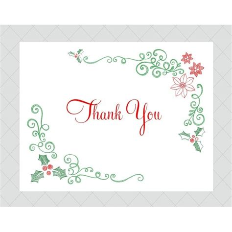 Merry Thank You Card Template by Thank You Card Template Invitation Template