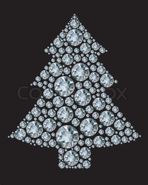 christmas tree made from diamonds stock vector colourbox