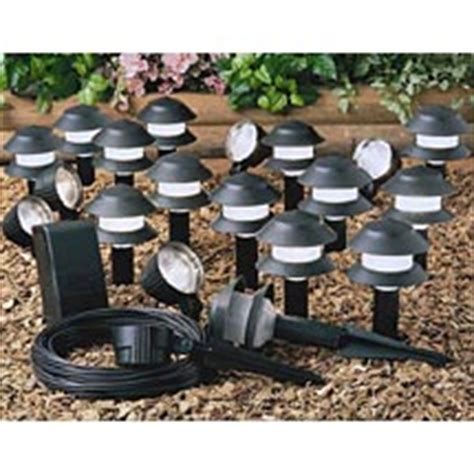 malibu landscape lighting sets walmart malibu 20 low voltage outdoor lighting kit