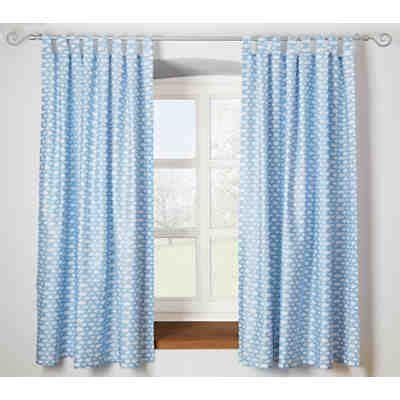 blaue gardinen schals vorhang wolken inkl b 252 gelband 140 x 245 cm 2 st 252 ck
