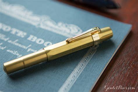 kaweco brass sport fountain pen raw brass extra fine