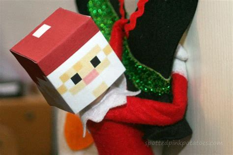 elf on the shelf minecraft santa printable 202 best christmas elf on the shelf images on pinterest