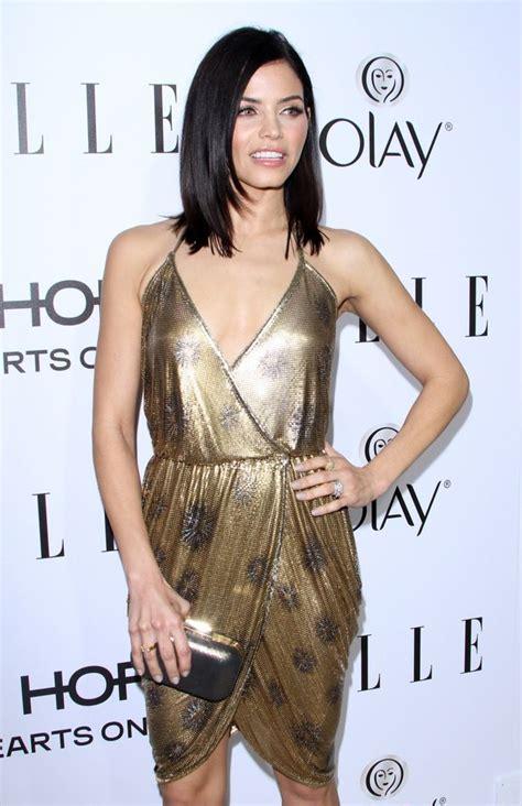 Yummy mummy Jenna Dewan Tatum wows in plunging gold dress