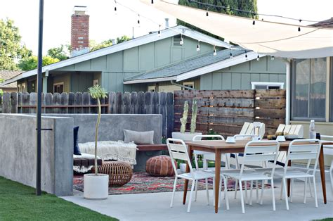 California Backyard Patio by Modern California Backyard Patio Reveal Brittanymakes The Vintage Rug Shop The Vintage Rug Shop