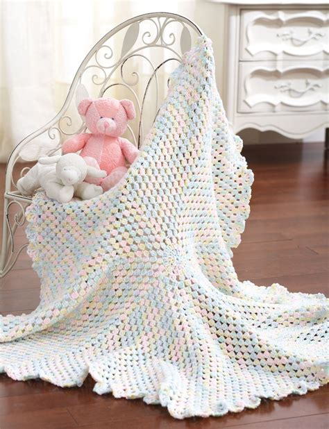 Crochet Baby Blanket Bernat by Blanket To Crochet In Bernat Baby Sport