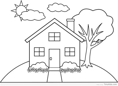 A House Coloring Page by 20 Colouring House Pages Timykids