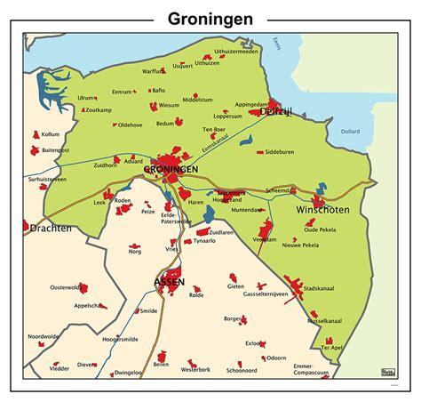 netherlands map groningen gemeenten groningen kaart zoeken groningerland
