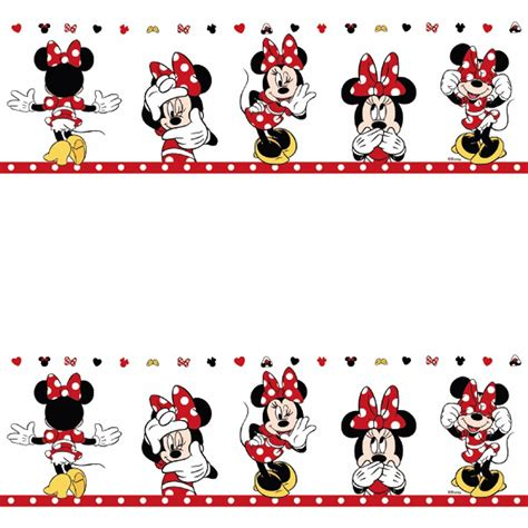 disney wallpaper border uk official disney minnie mouse childs nursery wallpaper