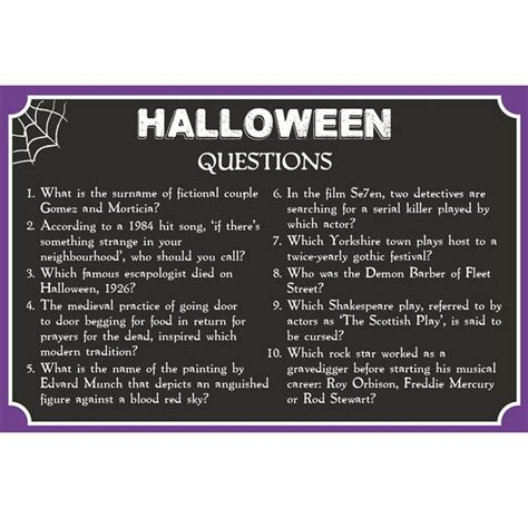 halloween themed quiz questions pub quiz free printable halloween talking tables