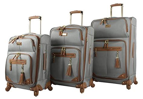 Steve Madden 3 Luggage Set by Steve Madden Luggage 3 Softside Spinner Suitcase Set Collection One Size Harlo Gray