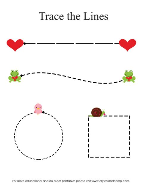 printable tracing lines for preschoolers heart shaped do a dot printables