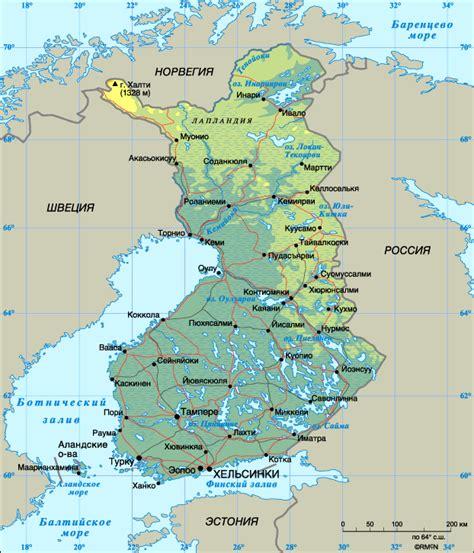 map  finland planetologcom
