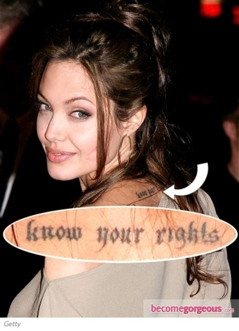 angelina jolie tattoo know your rights font marcheline bertrand funeral quotes quotes