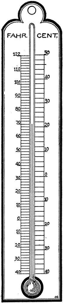 thermometer clip art black and white thermometer clipart etc
